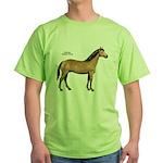 American Quarter Horse (Front) Green T-Shirt