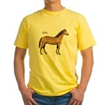 American Quarter Horse (Front) Yellow T-Shirt