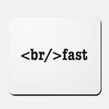 breakfast HTML Mousepad