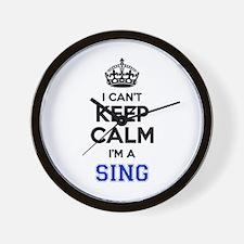 I can't keep calm Im SING Wall Clock