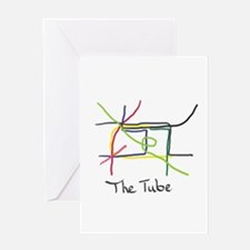 The Tube Greeting Cards