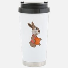 Funny rabbit with baske Stainless Steel Travel Mug