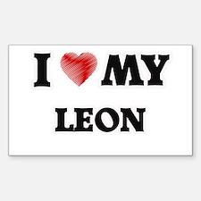 I love my Leon Decal