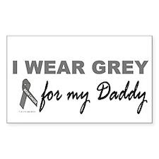 I Wear Grey For My Daddy 2 (BC) Sticker (Rectangul