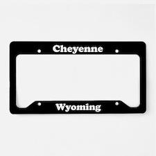 Cheyenne WY License Plate Holder