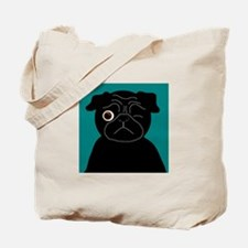 Wink, the Pug Tote Bag