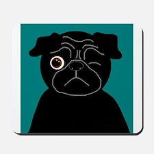 Wink, the Pug Mousepad