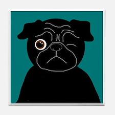 Wink, the Pug Tile Coaster