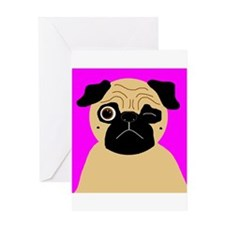 Wink, the Pug Greeting Card