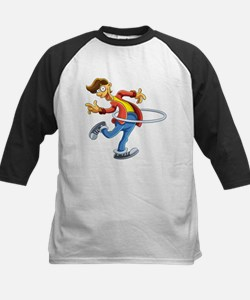 Cartoon boy playing with ring Baseball Jersey
