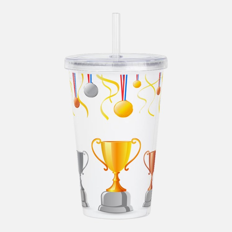 Trophies medals art Acrylic Double-wall Tumbler