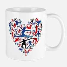 Athletic player made heart in Olympic Mugs