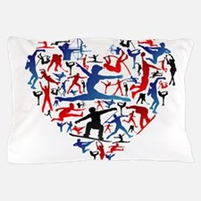 Athletic player made heart in Olympic Pillow Case