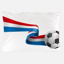 Abstract 3d France flag football ribbo Pillow Case