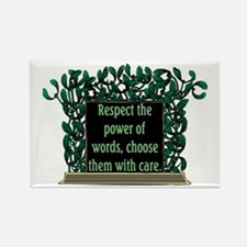 THE POWER OF WORDS.. Rectangle Magnet