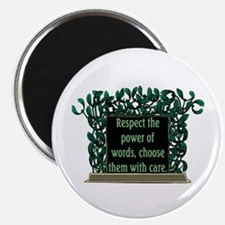 "THE POWER OF WORDS.. 2.25"" Magnet (10 pack)"
