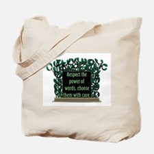 THE POWER OF WORDS.. Tote Bag