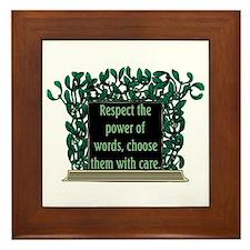 THE POWER OF WORDS.. Framed Tile