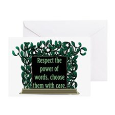 THE POWER OF WORDS.. Greeting Cards (Pk of 20)
