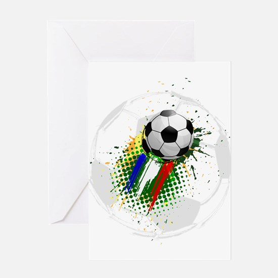 Creative soccer league Greeting Cards