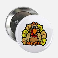 """Thanksgiving Turkey Feather 2.25"""" Button (10 pack)"""
