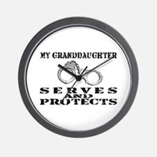 Serves & Protects Cuffs - Grnddghtr Wall Clock