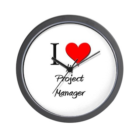 I Love My Project Manager Wall Clock