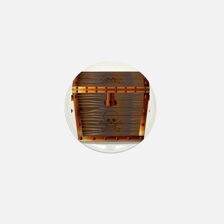 Cute Treasure chest Mini Button