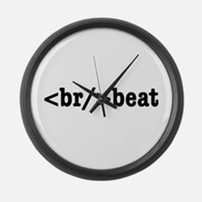 breakbeat HTML Large Wall Clock