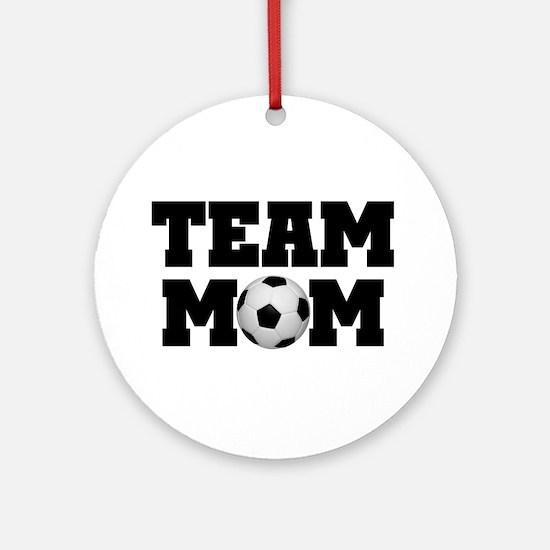 Soccer Team Mom Ornament (Round)