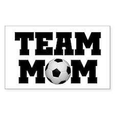 Soccer Team Mom Rectangle Decal