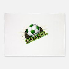 Soccer beautiful texture with brazi 5'x7'Area Rug