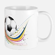 Abstract football green colorful wave Mugs