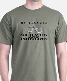 Serves & Protects Cuffs - Fiancee T-Shirt