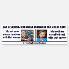 Clintons - Two of a kind Bumper Bumper Sticker
