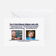 Clintons - Two of a kind Greeting Card