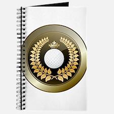 Golden crown golf club shield Journal
