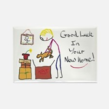 Good Luck New Home Magnets