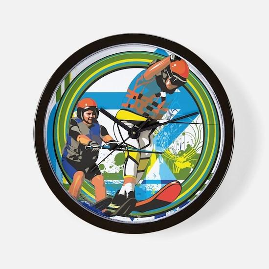 Water skiers Wall Clock