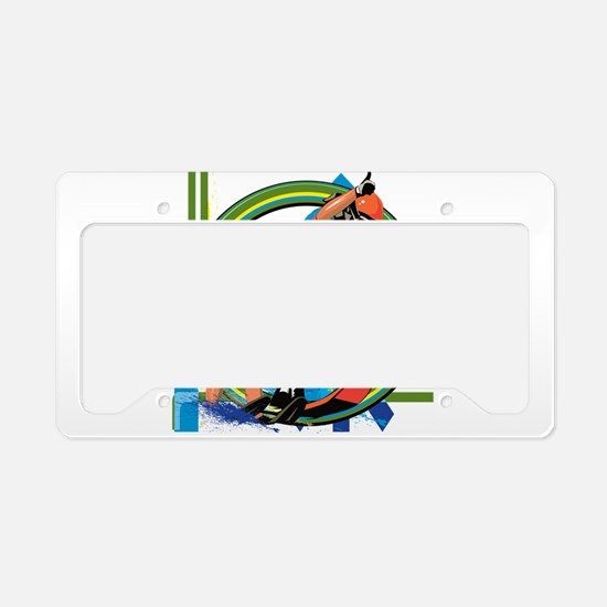 Water skiers License Plate Holder