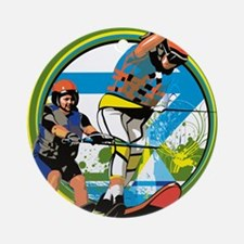 Water skiers Round Ornament
