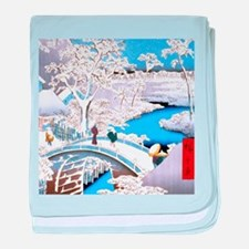 Hiroshige Drum Bridge baby blanket