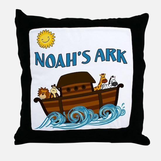 Cute Noahs ark Throw Pillow