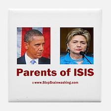 Obama/Hillary - Parents of ISIS Tile Coaster