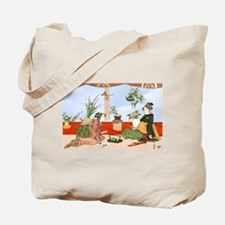 Tea Party Ceremony 18th Century Tote Bag