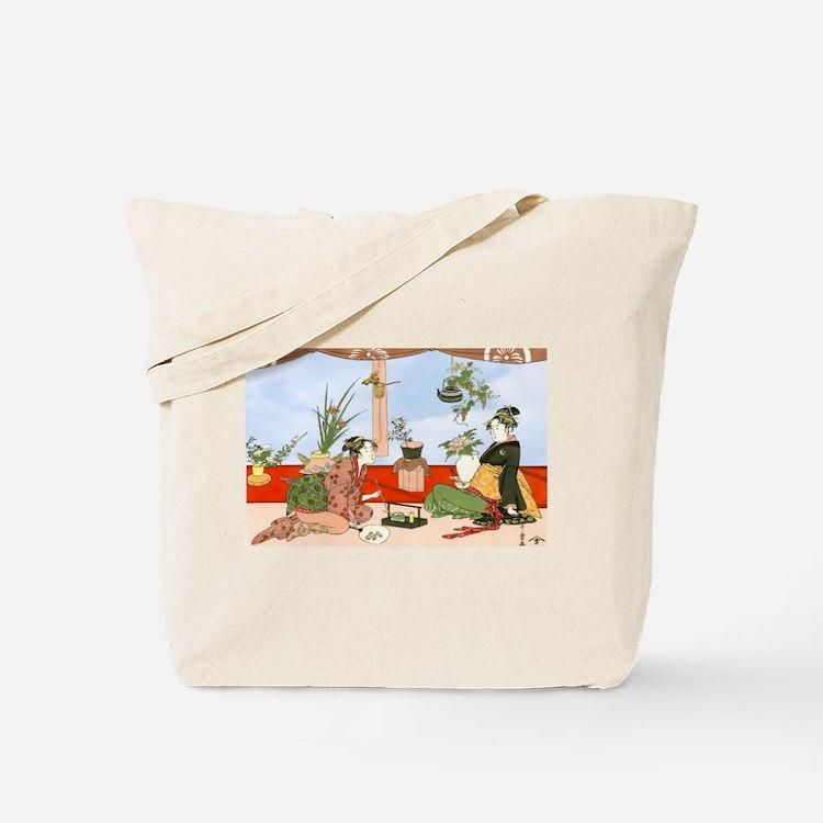 Tea Party Ceremony 18th Century Tote Bag