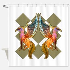 Hippogriff Haven Shower Curtain