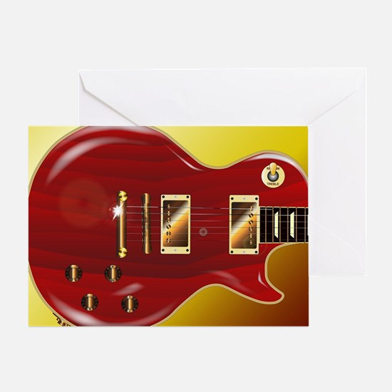 Unique Electric guitar Greeting Card