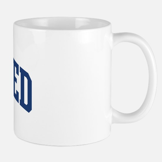 MOHAMED design (blue) Mug