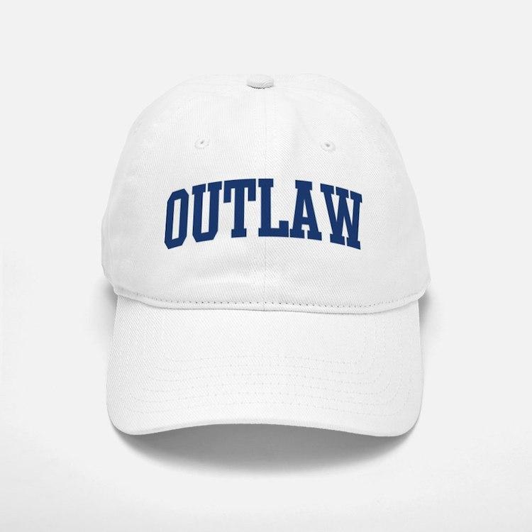 OUTLAW design (blue) Baseball Baseball Cap